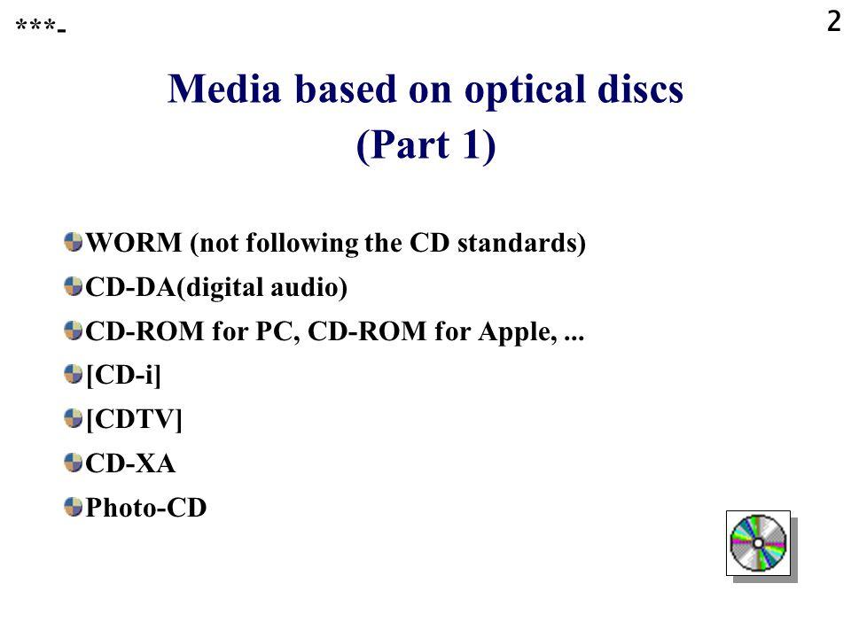 1 Compact Discs **** Optical Discs