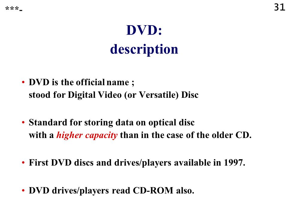 30 Compact Discs DVD ***-