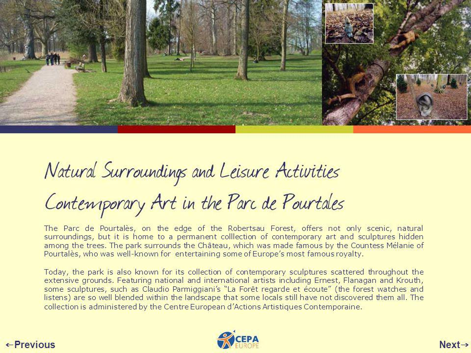 The Parc de Pourtalès, on the edge of the Robertsau Forest, offers not only scenic, natural surroundings, but it is home to a permanent colllection of contemporary art and sculptures hidden among the trees.