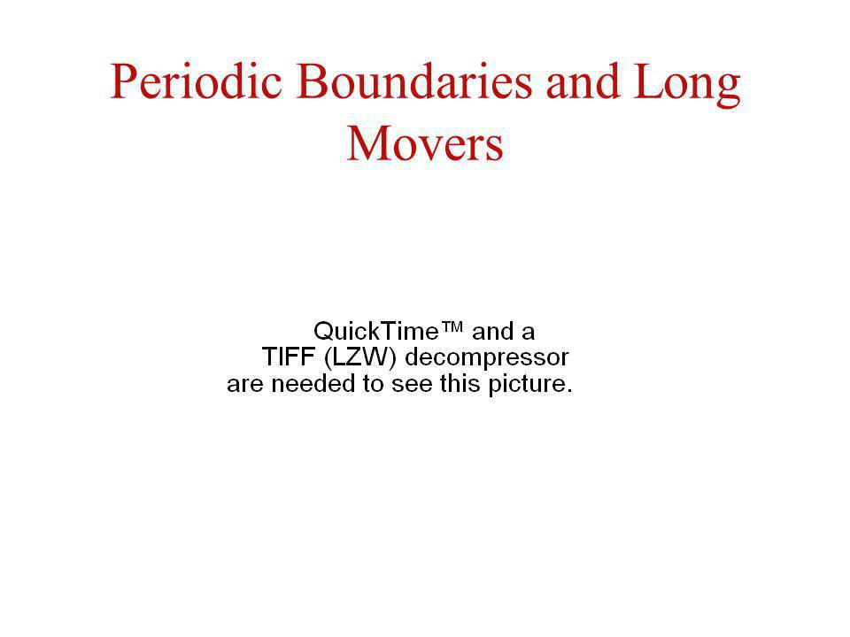 Periodic Boundaries and Long Movers
