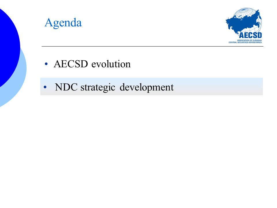 Agenda AECSD evolution NDC strategic development