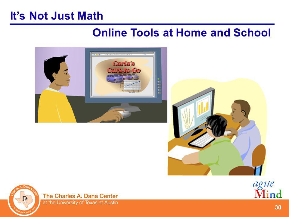 30 Its Not Just Math Online Tools at Home and School