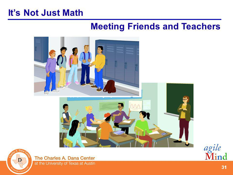 31 Its Not Just Math Meeting Friends and Teachers
