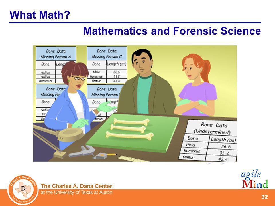 32 What Math? Mathematics and Forensic Science