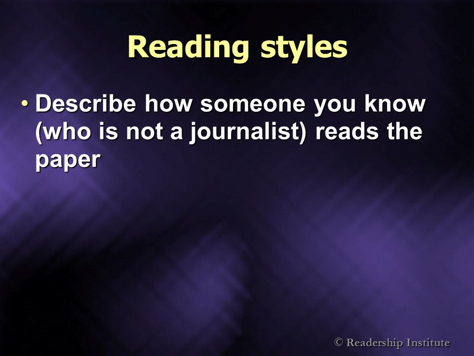 © Readership Institute Why does promotion work