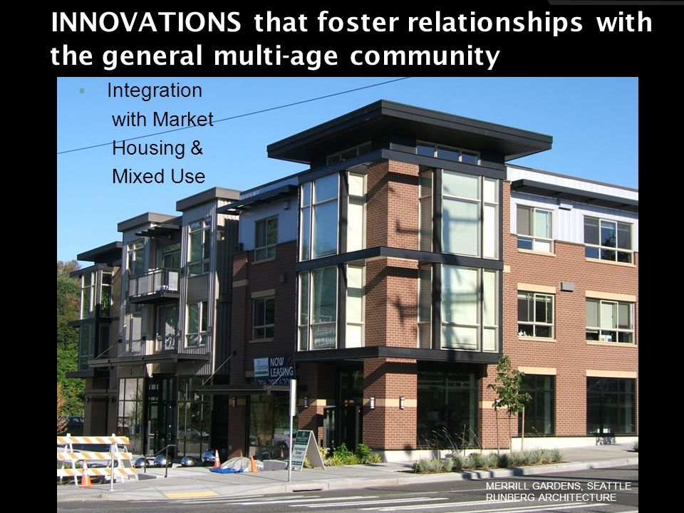 INNOVATIONS that foster relationships with INNOVATIONS that foster relationships with the general multi-age community the general multi-age community