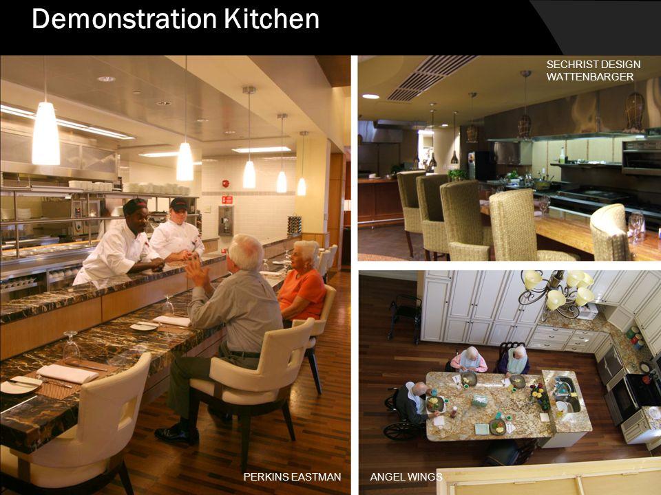 HORIZON HOUSE, SEATTLE NBBJ BELLETTINI WATTENBARGER ARCHITECTS Demonstration Kitchen PERKINS EASTMAN SECHRIST DESIGN WATTENBARGER ANGEL WINGS