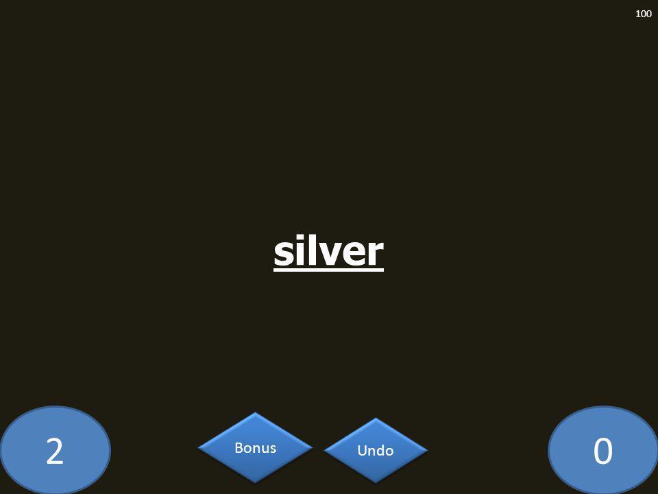 20 silver 100 Undo Bonus
