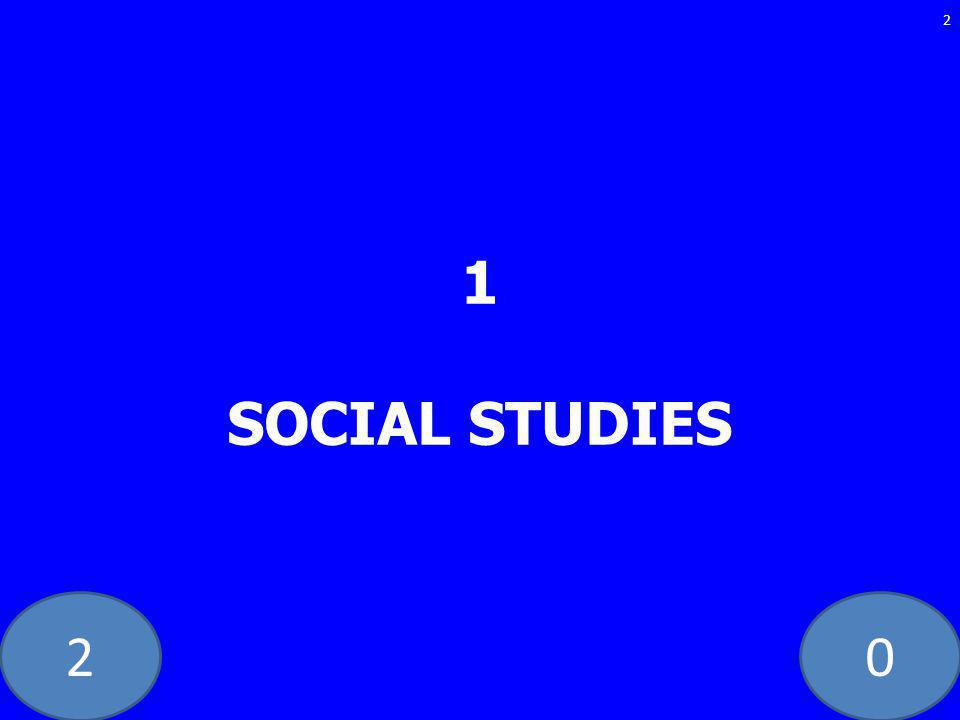20 1 SOCIAL STUDIES 2