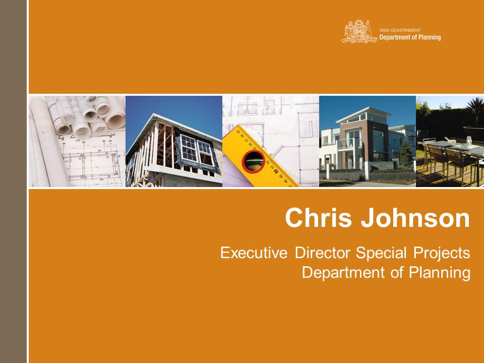 Chris Johnson Executive Director Special Projects Department of Planning