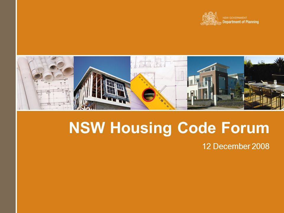 NSW Housing Code Forum 12 December 2008