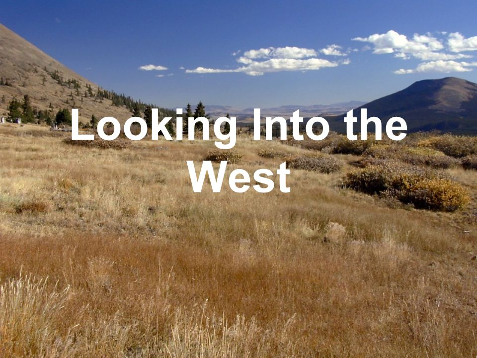 Looking Into the West