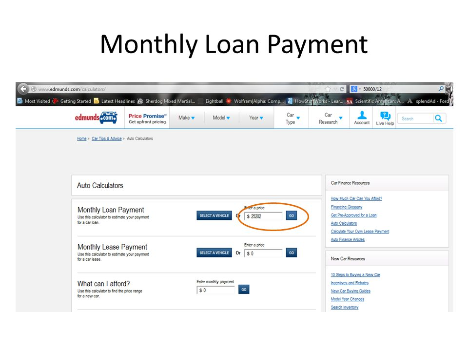 Monthly Loan Payment