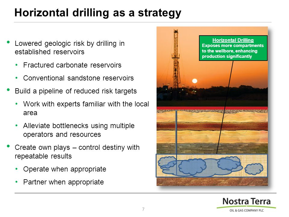 Horizontal drilling as a strategy Lowered geologic risk by drilling in established reservoirs Fractured carbonate reservoirs Conventional sandstone reservoirs Build a pipeline of reduced risk targets Work with experts familiar with the local area Alleviate bottlenecks using multiple operators and resources Create own plays – control destiny with repeatable results Operate when appropriate Partner when appropriate 7 Horizontal Drilling Exposes more compartments to the wellbore, enhancing production significantly