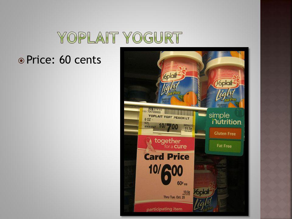 Price: 60 cents