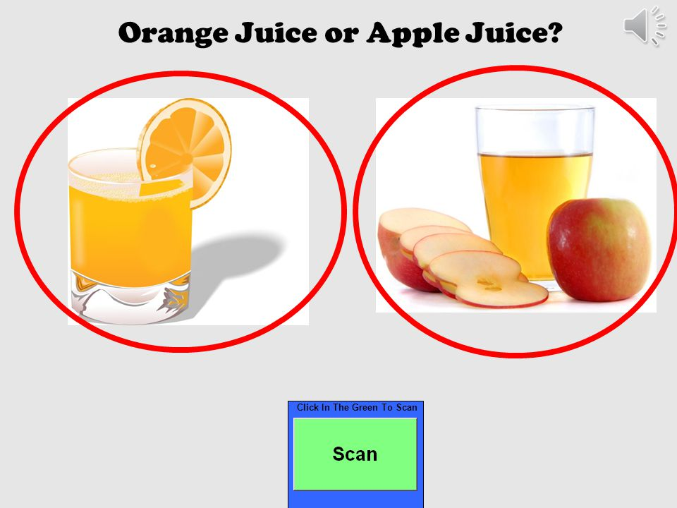 Click In The Green To Scan White Milk or Chocolate Milk?