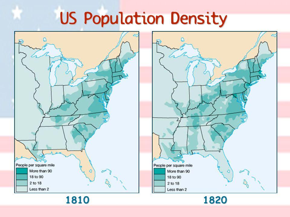 US Population Density 18101820