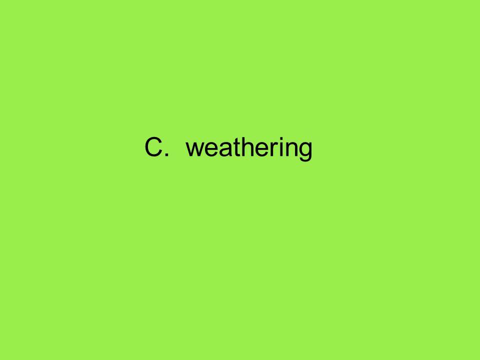 C. weathering