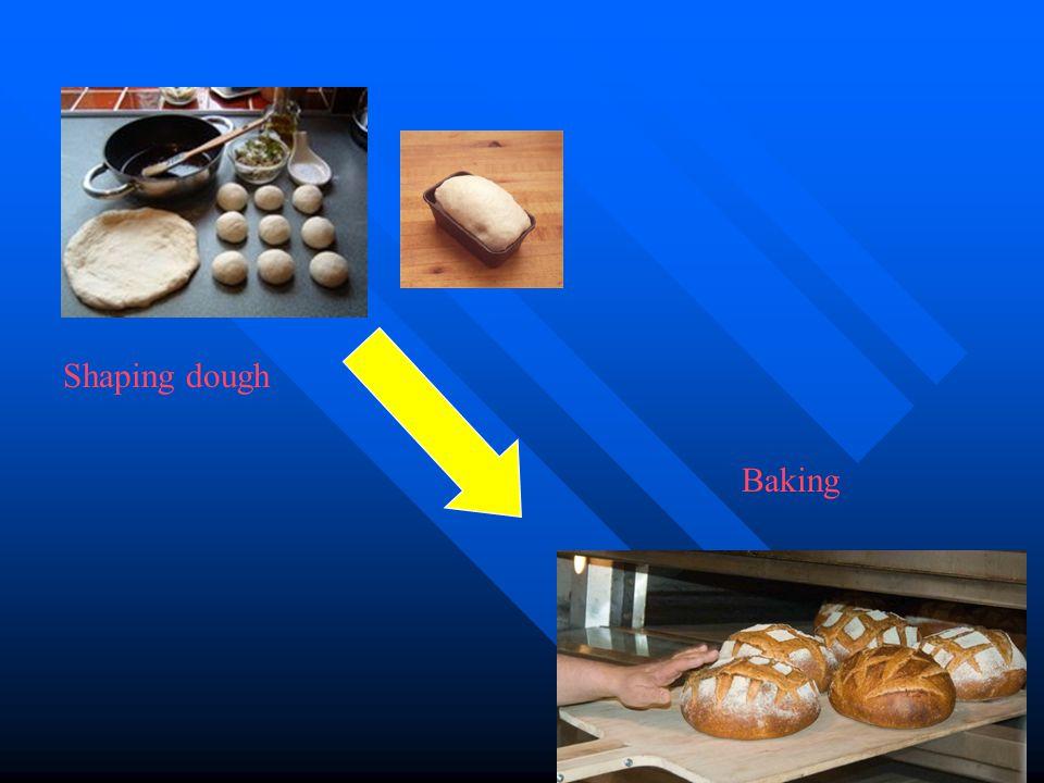 Shaping dough Baking