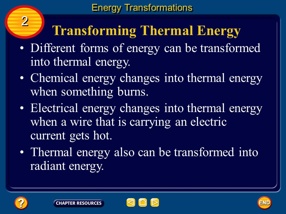 Transforming Electrical Energy Energy Transformations 2 2