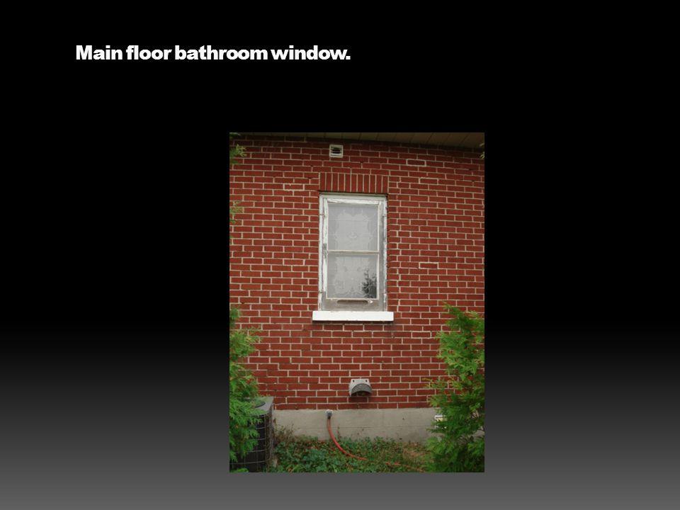 Main floor bathroom window.