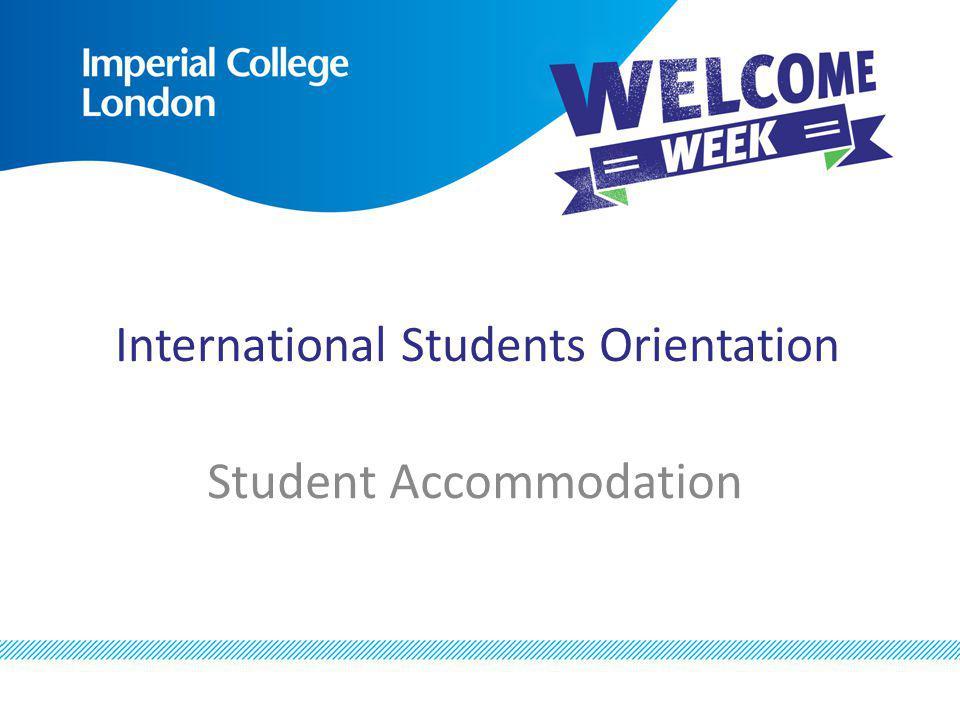 International Students Orientation Student Accommodation