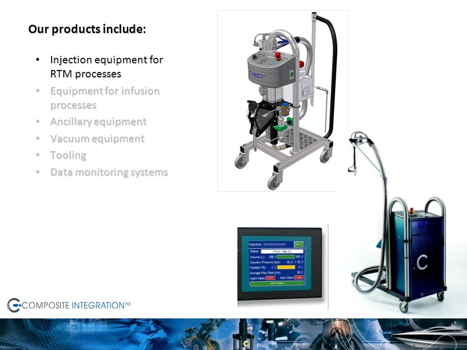 Ciject non-mixing lab-scale equipment Developed to answer the demand for simple yet flexible injection equipment for use in small-scale production, laboratories and research establishments.