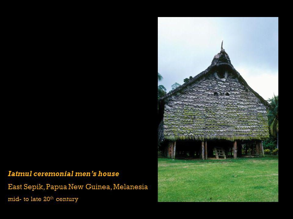 Iatmul ceremonial mens house East Sepik, Papua New Guinea, Melanesia mid- to late 20 th century