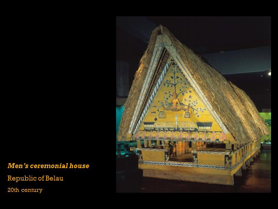 Mens ceremonial house Republic of Belau 20th century