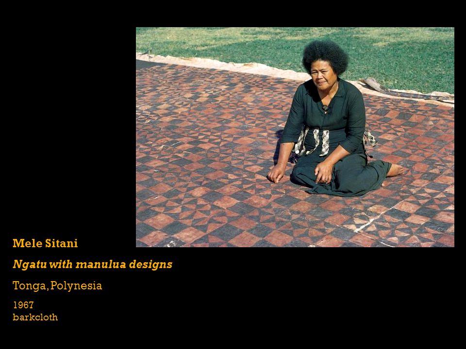 Mele Sitani Ngatu with manulua designs Tonga, Polynesia 1967 barkcloth
