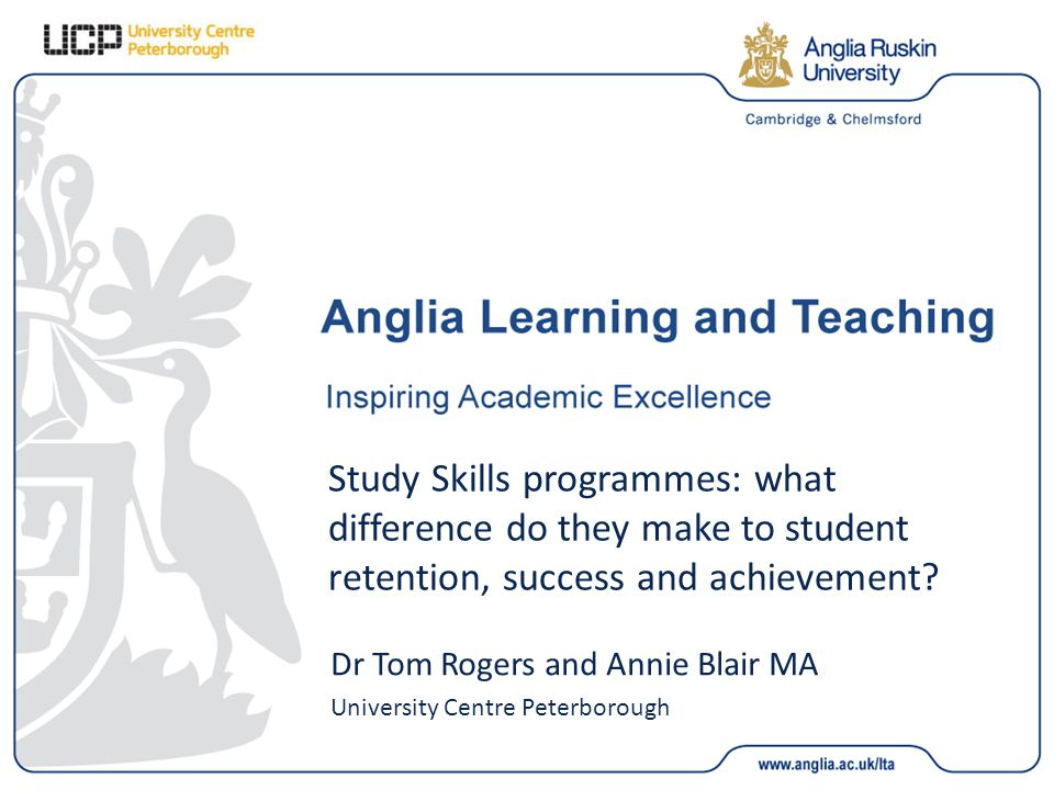 Study Skills programmes: what difference do they make to student retention, success and achievement.