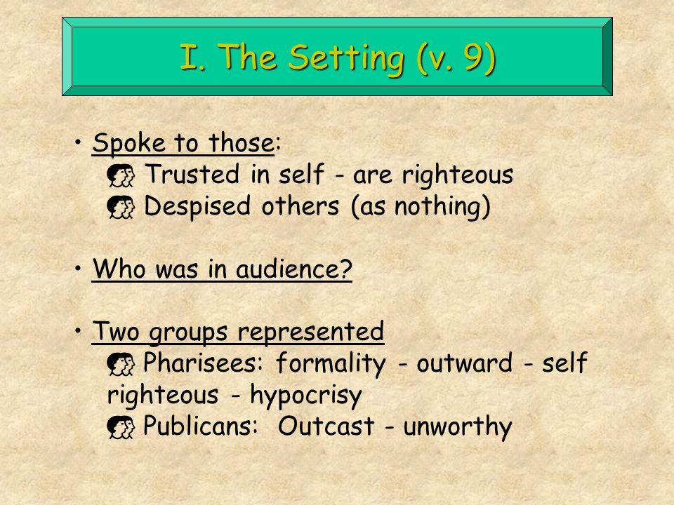 I. The Setting (v.
