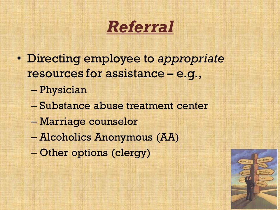 Treatment The actual intervention to solve the problem – e.g., – 1.