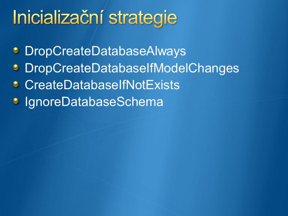 DropCreateDatabaseAlways DropCreateDatabaseIfModelChanges CreateDatabaseIfNotExists IgnoreDatabaseSchema
