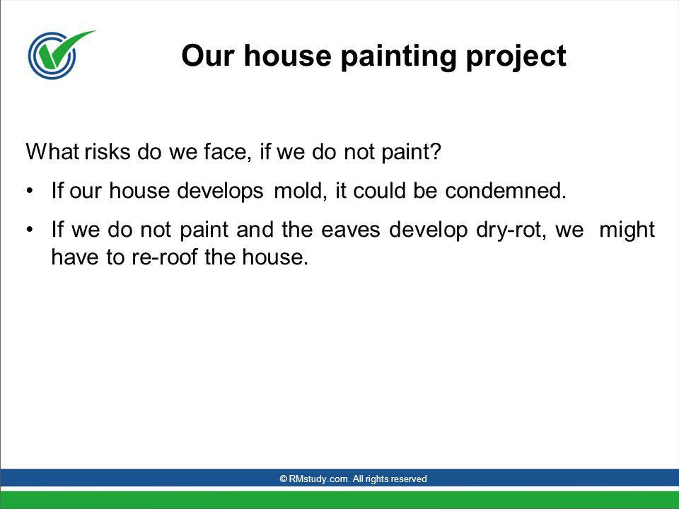 Our house painting project What risks do we face, if we do not paint.