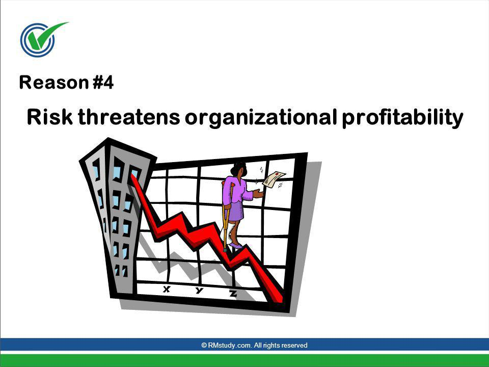 Reason # 4 Risk threatens organizational profitability © RMstudy.com. All rights reserved