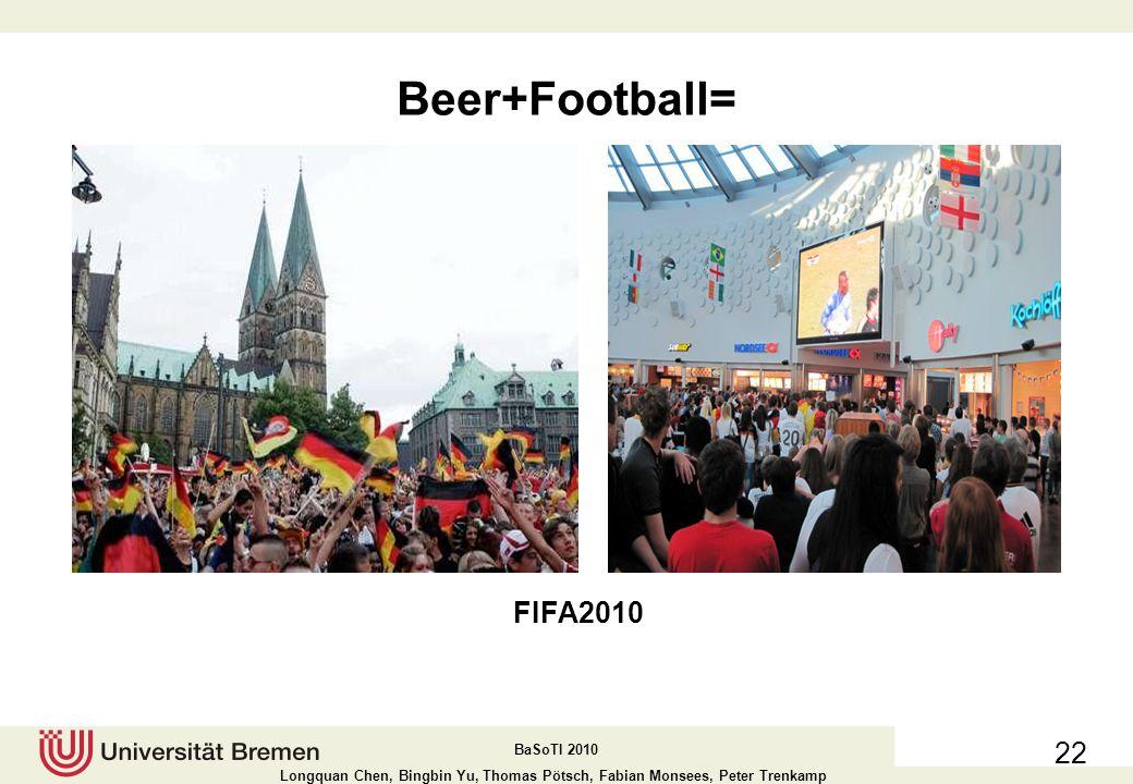 BaSoTI 2010 Longquan Chen, Bingbin Yu, Thomas Pötsch, Fabian Monsees, Peter Trenkamp Beer+Muisc= 21 Breminale Before the music festival begin After several bottels of beer........