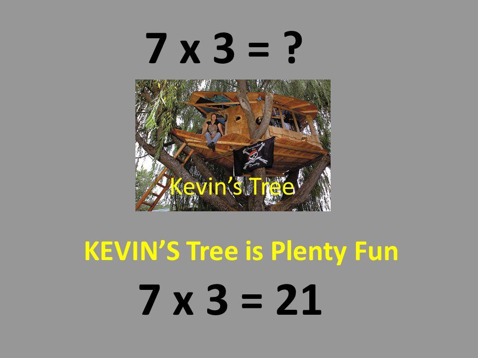 Kevins Tree Is Plenty Fun 7 x 3 = 21 Kevins mom was a super carpenter.