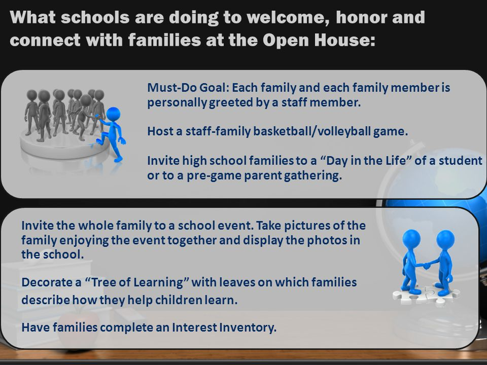Must-Do Goal: Each family and each family member is personally greeted by a staff member.