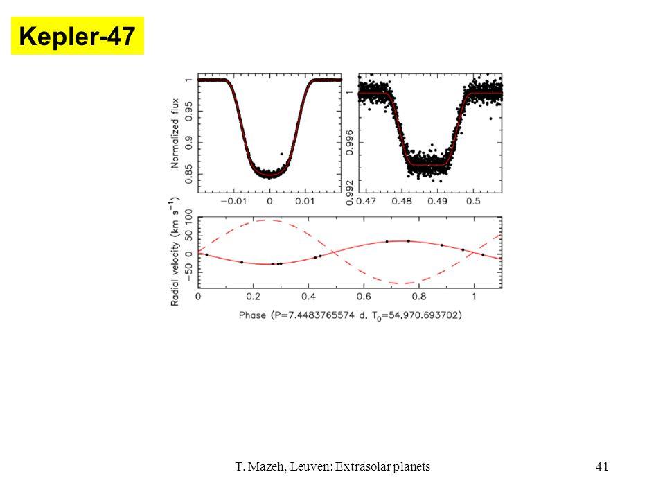 T. Mazeh, Leuven: Extrasolar planets41 Kepler-47