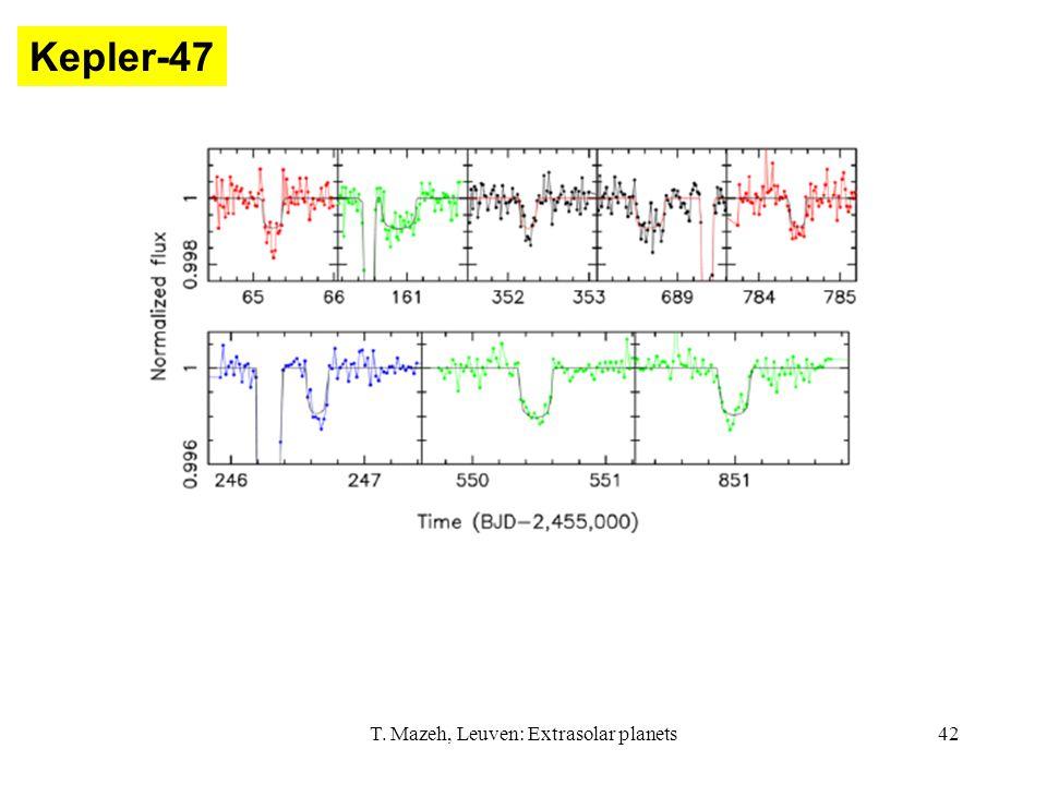 T. Mazeh, Leuven: Extrasolar planets42 Kepler-47