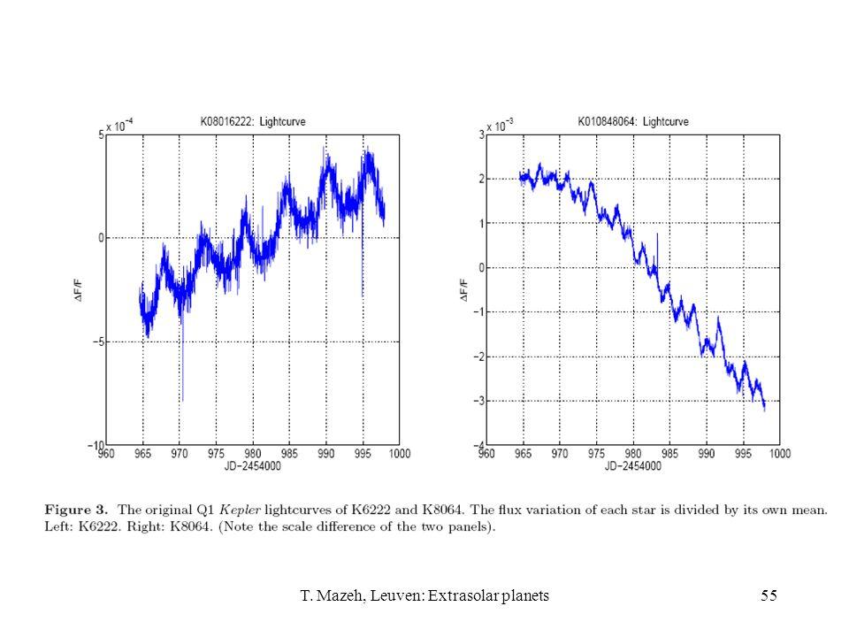T. Mazeh, Leuven: Extrasolar planets55