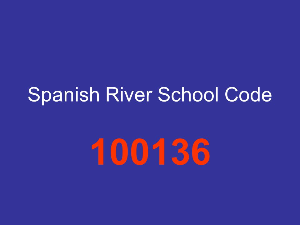 Spanish River School Code 100136