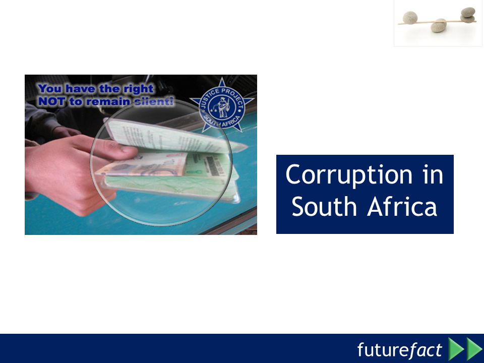 future fact Corruption in South Africa