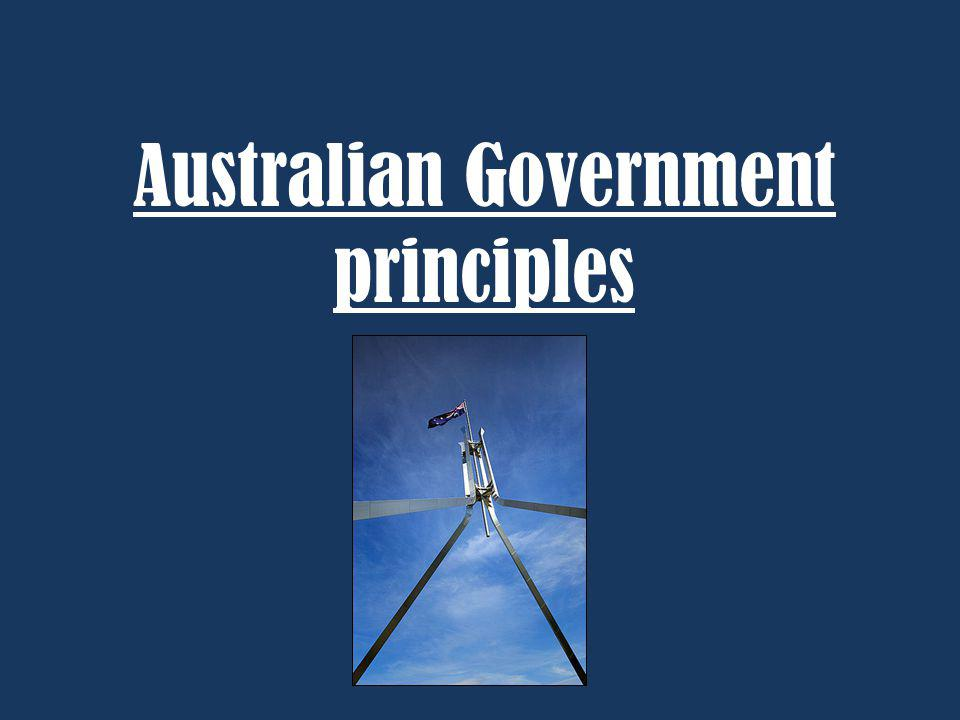 Australian Government principles