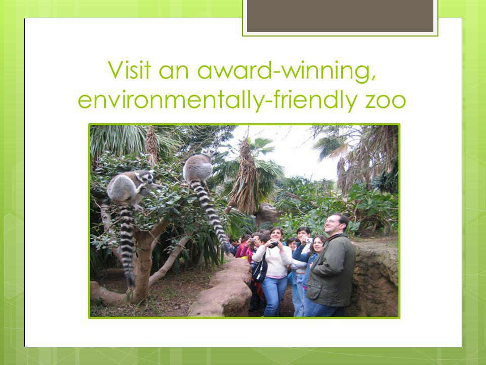 Visit an award-winning, environmentally-friendly zoo