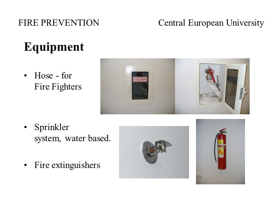 Equipment Hose - for Fire Fighters Sprinkler system, water based. Fire extinguishers