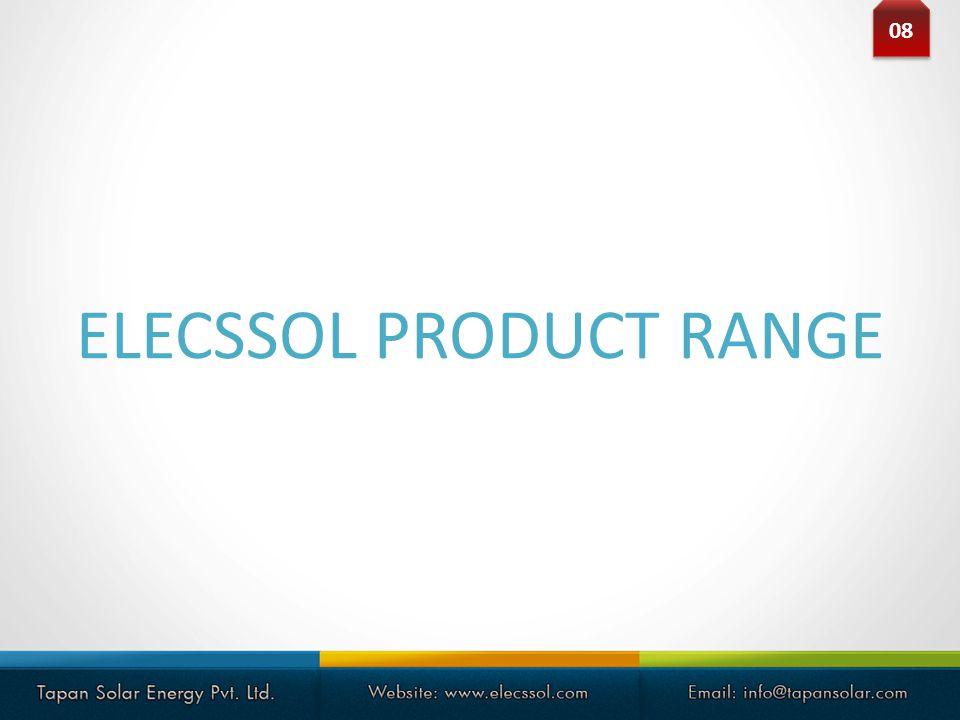 ELECSSOL PRODUCT RANGE 08