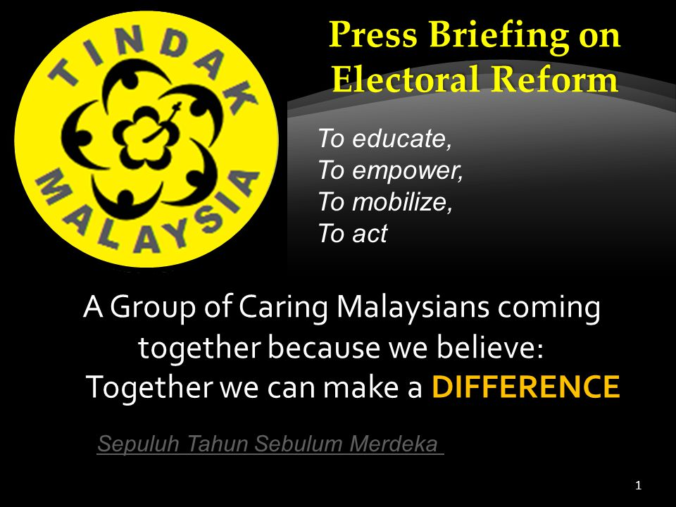 1 A Group of Caring Malaysians coming together because we believe: Break0: Sepuluh Tahun Sebulum Merdeka ( 35min22sec)Sepuluh Tahun Sebulum Merdeka IT STARTED IN 1946 .