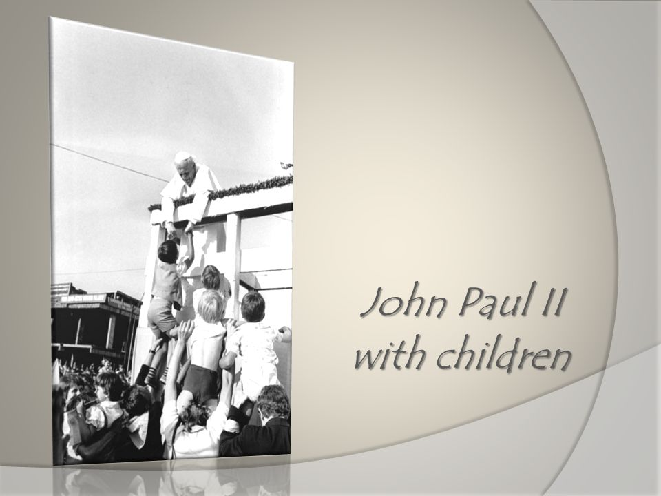 John Paul II with children with children